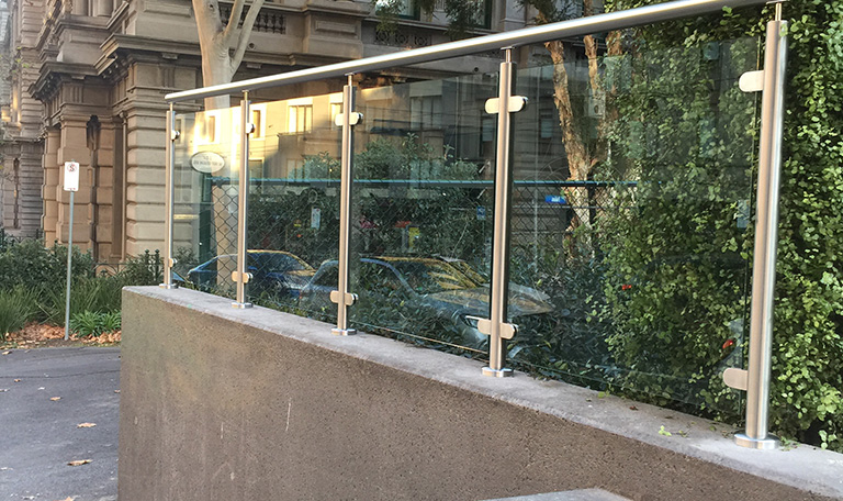 Glass & Mesh Fence - 655 Collins Street
